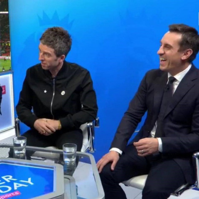 Noel Gallagher and Gary Neville @ Sky Sports
