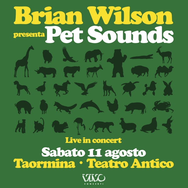 "Brian Wilson con""Pet Sounds"" live In Italia"