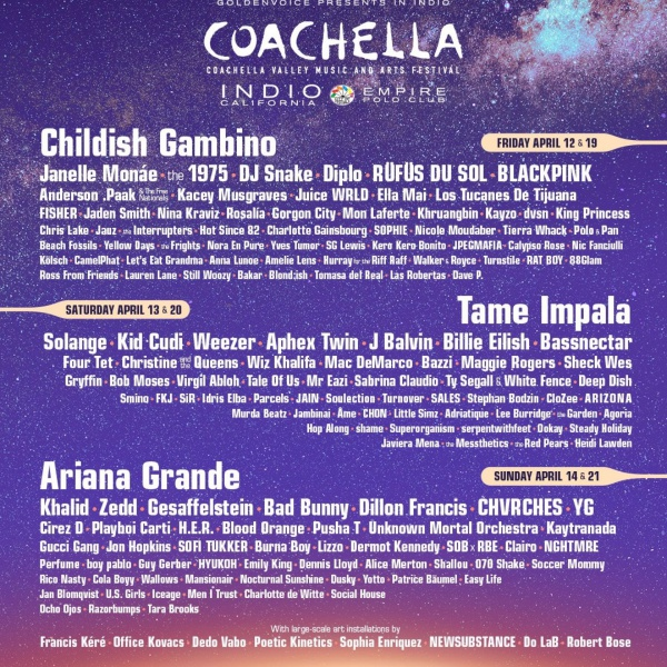 Coachella 2019, ecco la line up