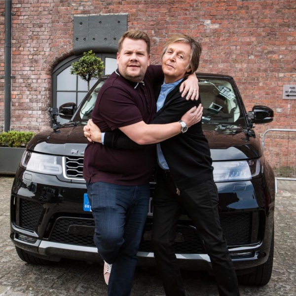 Guarda il 'Carpool Karaoke' di Paul McCartney con James Corden